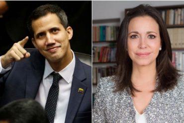 ¡CLARO Y RASPA'O! María Corina Machado: La AN debe reconocer a formalmente Juan Guaidó como Presidente del país