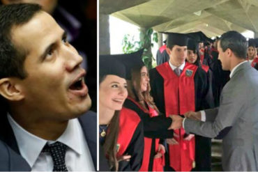 "¡ADMIRABLE! ""Confíen en mi"": El mensaje que transmitió a Guaidó durante visita a graduandos de la UCAB (+Fotos)"