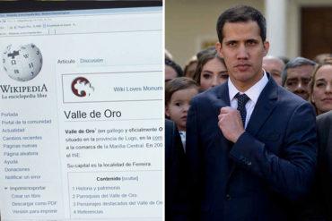 ¡NO LE GUSTARA A NICO! Juan Guaidó ya aparece como presidente interino de Venezuela en Wikipedia (+Captura) (El chavismo se retuerce)