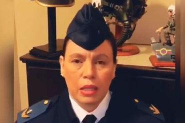 ¡TE VEO SOLITO, NICO! Esta mayor de la Aviación Militar desconoce a Maduro como presidente (+Video +cada vez más aislado)