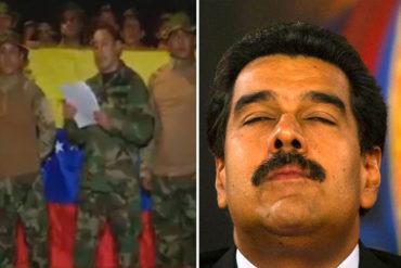 ¡ÚLTIMA HORA! Militares venezolanos en Colombia le dan la espalda a Maduro: Reconocemos a Guaidó como Comandante en Jefe (+Video)
