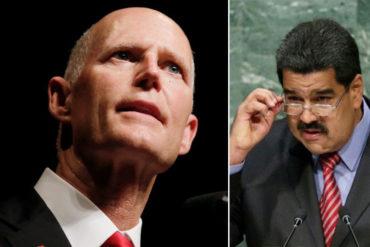 """¡ES CONTIGO, NICO! Senador Rick Scott sobre sanciones de EE UU a PDVSA: """"El tiempo de Maduro se acabó"""""""