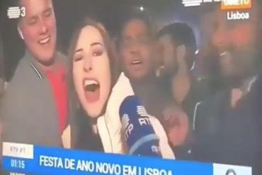 """¡IMPERDIBLE! """"Maduro, c*ño 'e tu madre"""", el mensaje de una venezolana al ser entrevistada en vivo en Lisboa (+Video)"""