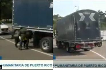 ¡QUE SE SEPA! Ayuda humanitaria enviada por Puerto Rico ya llegó al centro de acopio del puente Las Tienditas (+Video)