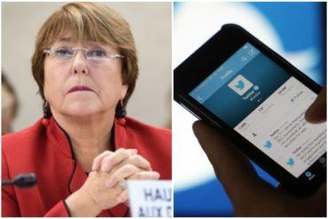 ¡LE DIERON DURO! Con la etiqueta #BacheletVenAVenezuela le explicaron a la comisionada por qué debe visitar el país (Hasta Miguel Bosé se unió)