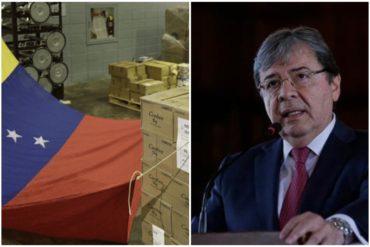 ¡OJO, MUY IMPORTANTE! Canciller colombiano explica cómo se coordinará envío de ayuda humanitaria a Venezuela (+Video)