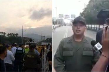"""¡LO DIJO! Militar que sublevó contra Maduro en la frontera: """"Ellos son 30 o 40, nosotros somos millones de venezolanos que queremos libertad"""" (+Video)"""