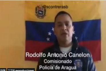 ¡SE SIGUEN SUMANDO! Comisionado de PoliAragua reconoce a Guaidó y pide a sus compañeros unirse: «No vale la pena tener al pueblo en contra por un narco-régimen» (+Video)