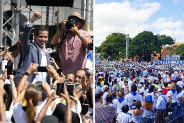 ¡CONVOCATORIA MULTITUDINARIA! Guaidó juramentó a voluntarios que apoyarán con ingreso de ayuda humanitaria