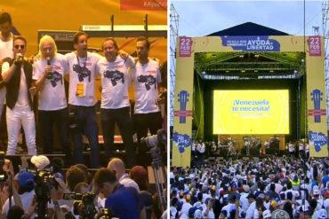 """¡ERIZANTE! El sentido momento en que Fonseca y Richard Brason cantaron """"Imagine"""" en el Venezuela Aid Live (+Videos)"""