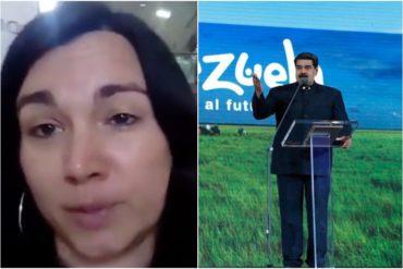 ¡INSOPORTABLE! Lo que dijo Maduro de la comunista española que vino a Venezuela a desmentir la crisis humanitaria (su tarifada de turno)