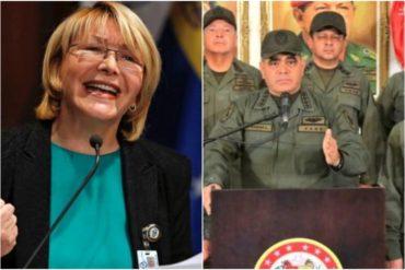"""¡EL LLAMADO! Luisa Ortega Díaz pide a militares venezolanos que se opongan al """"bloqueo criminal de la tiranía"""" (+Video)"""