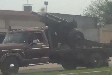 ¡ATENTOS! Reportan traslado de cañones militares a zonas fronterizas del Zulia (+aumentaron la presencia militar) (Fotos+Video)