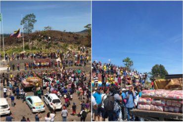 ¡MIRE! Camión con ayuda humanitaria llega a Pacaraima, en la frontera de Venezuela con Brasil (+Fotos +Video)