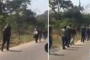 ¡SEPA! Reportan ejercicios militares  de milicianos cerca de frontera con Colombia ante posible ingreso de ayuda humanitaria (+Video)