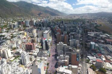 ¡SE DESBORDÓ CARACAS! Impresionantes fotos aéreas de la movilización en Caracas este #12F (No lo verás en VTV)