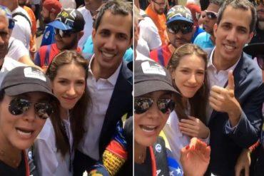 """¡MÍRELA! Norkys Batista se retrató con Guaidó y su esposa para quitarse el estigma de """"enchufada"""" (+Video)"""