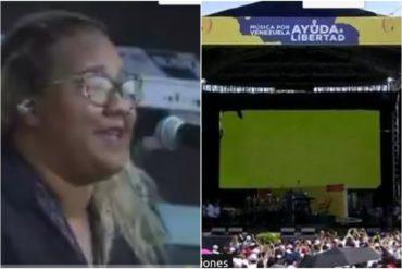 """¡MÍRELA! La venezolana Reymar Perdomo dió apertura al concierto Venezuela Aid Live con su canción """"Me Fui"""" (+Videos)"""