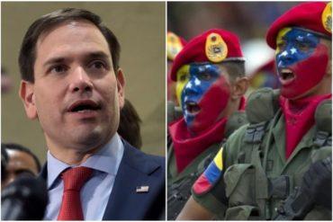 """¡ENTÉRESE! La petición de Marco Rubio a militares venezolanos con los que ha estado en """"contacto"""" en los últimos días"""