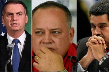 """¡TENSIÓN EN MIRAFLORES! Bolsonaro reconoce que de haber una """"intervención"""" en Venezuela, no sería un tema público (+Video)"""