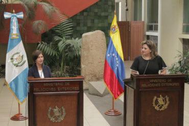 ¡RESPALDO TOTAL! Guatemala recibe credenciales de la embajadora designada por Guaidó