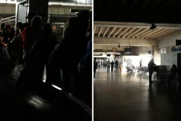 ¡DEBE VERLO! Así estuvo el aeropuerto internacional de Maiquetía durante el apagón en Venezuela (+Fotos)