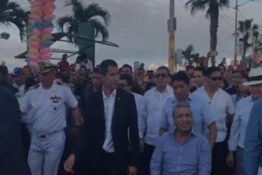 ¡SE LO MOSTRAMOS! Así fue como los venezolanos en Ecuador recibieron y saludaron a Guaidó #2Mar (+Video)