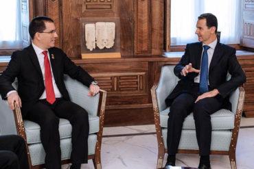 ¡AQUÍ ESTÁN! Las fotos de la criticada reunión de Arreaza con Bashar al Asad