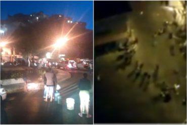 ¡SE ENCIENDEN LAS CALLES! Protestan a pocas cuadras de Miraflores por falta de agua (+Videos) (+Foto)