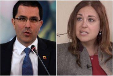 ¡DE FRENTE! La periodista sueca deportada reta a Arreaza con entregarle una visa para regresar a Venezuela