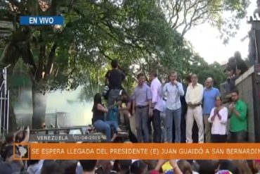 ¡LE MOSTRAMOS! Momento exacto en que detonaron lacrimógena en acto de Guaidó en San Bernardino (+Video)