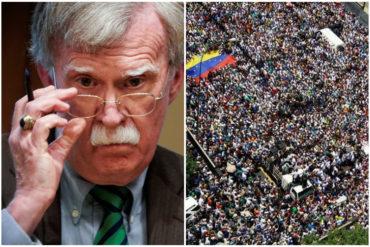 """¡SEPA! Bolton comenta la multitudinaria asistencia a marcha del #6Abr: """"Maduro debe escuchar las voces en auge del pueblo venezolano"""""""