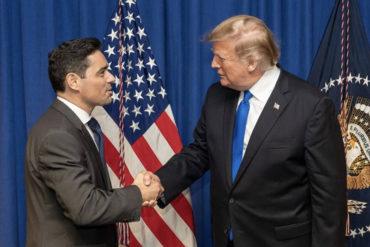 """¡SE LO MOSTRAMOS! Vecchio agradeció a Trump por su apoyo """"irrestricto"""" a Guaidó y a la lucha por la restitución de la democracia en Venezuela"""