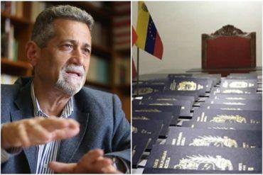 ¡DEBE SABERLO! Américo De Grazia denuncia conspiración en la entrega de pasaportes venezolanos a los chinos