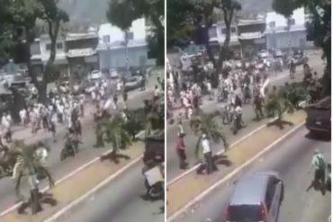 ¡NO COMIERON CUENTO! La gente se cansó del asedio de los colectivos en Yaracuy y así los hicieron huir (Video)