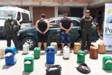 ¡UN HORROR! En Cúcuta detuvieron a 2 hombres por transportar carne en pimpinas usadas para almacenar gasolina