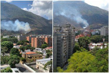 ¡QUÉ CALOR! El incendio que se registró en El Ávila durante la tarde de este domingo #19May (+Fotos)