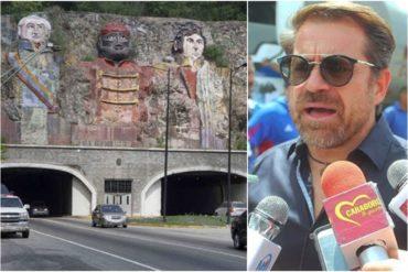 """¡LO DIJO! Lacava promete colocar el alumbrado en el túnel de La Cabrera: """"Estos perros se la pasan robando los cables"""" (+Video)"""