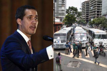 """¡ATENCIÓN! Guaidó confirma paro escalonado de transporte este #9May: """"Avanzamos en la organización"""" (+Fotos)"""