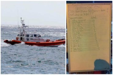 ¡TE LO TENEMOS! La lista de los desaparecidos en peñero que viajaba desde Güiria a Trinidad (Hay 2 menores de edad)