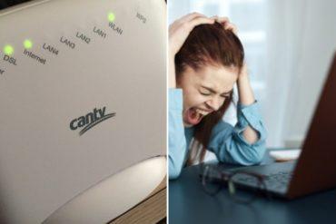 ¿HASTA CUÁNDO? Persiste la falla de ABA Cantv que mantiene al 70 % de clientes en Caracas sin internet