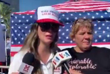"""¡ASÍ LO DIJO! Venezolana que apoya a Trump afirma que su reelección será """"vital"""" para lograr la libertad en Venezuela (+Video)"""