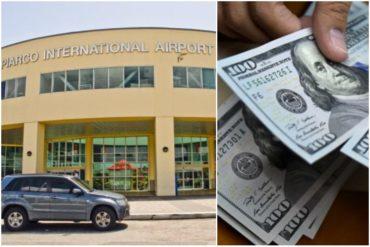 ¡LOCURA TOTAL! Detienen a venezolana con 69 mil dólares atados al cuerpo en el aeropuerto de Trinidad y Tobago