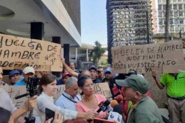 ¡LO ÚLTIMO! Extrabajadores petroleros protestan este #11Jun en Caracas para exigir el pago de sus pasivos laborales (+Video)
