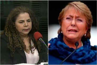 """¡NO ME DIGAS! Iris Varela asegura que el régimen mantiene a Bachelet """"en contacto con la realidad"""" (+Video +Sonrisa cínica)"""