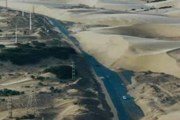 ¡OTRA VEZ! Colapsa la carretera de Punto Fijo: Los Médanos de Coro taparon completamente la vía (+Video)