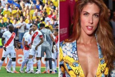 ¡AY CHAMO! Esta actriz prometió darle un beso al jugador que consiga el triunfo de Perú ante Chile