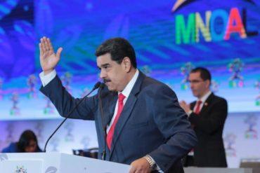 ¡MALCRIADO! La pataleta de Maduro en la reunión del Mnoal por las sanciones de EEUU