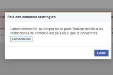 """¡ATENCIÓN! Usuarios reportan que Facebook presenta """"restricciones"""" para crear anuncios pagados desde Venezuela (+Tuits)"""
