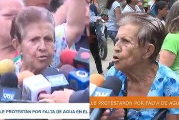 """¡DOLOROSO! Mujer de 82 años se queja por la falta de agua en El Valle: """"No puedo cargar tobos de agua"""""""